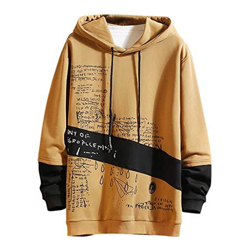 Langarmshirts Herren Kapuzenpullover Herbst Winter Sweatshirt mit Kapuze Männer Sport Freizeit 3D Drucken Langarm Hoodies Pullover Sweatshirts Tops