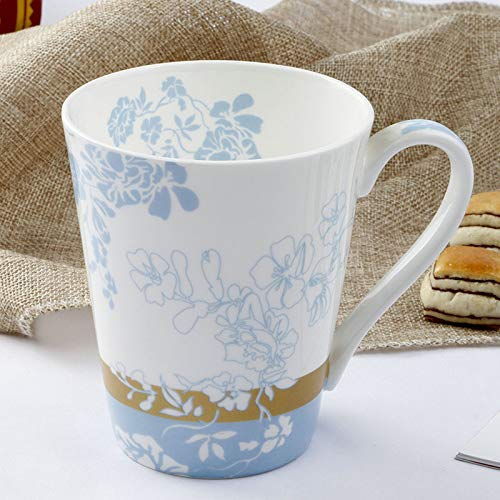 ahliwei Taza De Desayuno Taza De Porcelana De Hueso Tangshan Cerámica De Cerámica para EL Hogar Taza De Leche Taza De Regalo Creativo Un -