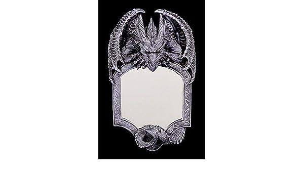 Dragon Miroir Seelenw/ächter Gothique Miroir Figurine Fantaisie