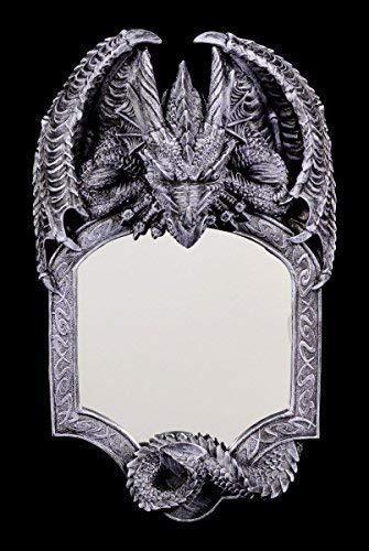 Dragones Espejo de Pared - Seelenwächter Gótico Espejo Figura...