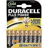 Duracell 51768634OE2024 - Paquete de 8 pilas, Plus Power LR03 AAA