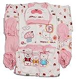 Jinyouju Body per bambini 18 pz. in cotone, set abbigliamento essenziale per neonati, corredino adorabile, set da regalo 0-6mesi Rosa Pink
