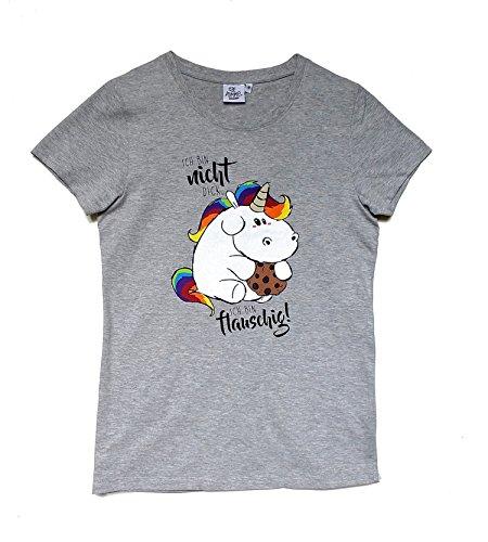 Beats & More Pummeleinhorn - Ich Bin Nicht Dick. Ich Bin Flauschig! (Damen-Shirt) (XL)