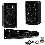 600W PA Party Musik Kompakt Anlage Verstärker AUX Boxen Kabel DJ-585