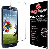 TECHGEAR® Samsung Galaxy S4 (i9500 / i9505) GLASS Edition Genuine Tempered Glass Screen Protector Guard Cover (Galaxy S4)