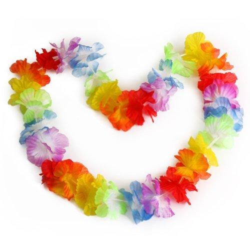 10 Pcs Guirlande Fleur Collier Necklace Plage Déguisement Hawaïenne Party Fête