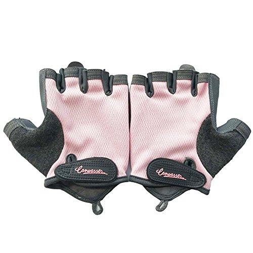 Preisvergleich Produktbild Gewicht heben Handschuhe,  Sport Handschuhe Fitness Training Gym Handschuhe für Herren Frauen Half Finger Rutschfestigkeit atmungsaktiv Fahrrad Handschuhe für Bewegung,  Outdoor Sport,  Reiten Racing,  Pink S,  S