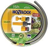 Hozelock Select Schlauch Starter-Set mit 15mm Durchmesser, grau/gelb, 33.5x33.5x12.5 cm, 6115P9000