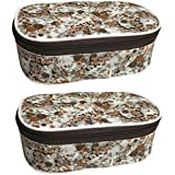 SNDIA Set Of 2 Multi Function Vanity Travel Pouch/Lunch Box Bag/Jewelry Cosmetic Kit/Toiletry Pouch And Baby Mother...
