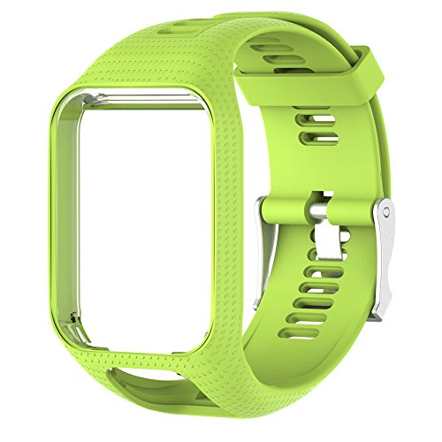colinsa 11couleurs Bande de montre de rechange pour TomTom Runner 2/3série montre bracelet de montre en silicone, Green
