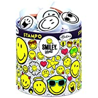 Smiley World and Aladine - Stampo Smiley - Emoji Tampons Set - Creative Toys and Games - Box of 38 Tampons + Included Auction House