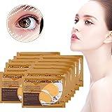 50 Paar Augenmaske, reich an Kollagen und Vitamin, reduziert Augenringe und Schwellungen gegen Faltenbildung, feuchtigkeitsspendend, Whitening Augenpfleg