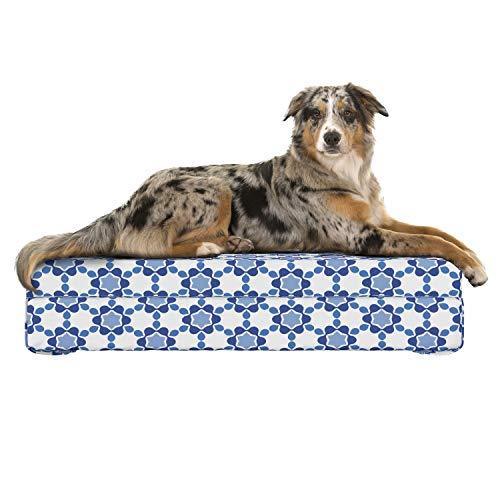Lunarable Hundebett, Memory-Schaum, für Katzen, Kaninchen, mit maschinenwaschbarem Bezug, stabiles, orthopädisches Haustierkissen, 32