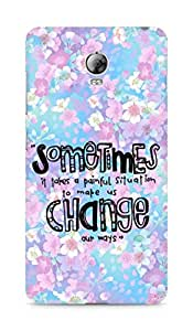AMEZ painful situation change us Back Cover For Lenovo Vibe P1