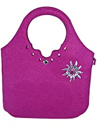 e92a973bc8787 Trachtenland - Umhängetasche kleiner Shopper mit Edelweiß oder Hirsch  Applikation - Dirndl Handtasche