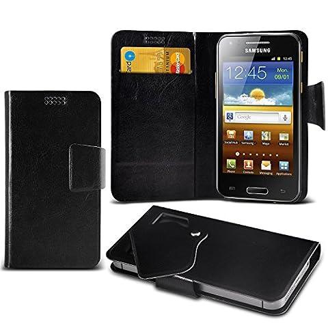 (Black) Samsung I8700 Omnia 7 Super dünne Kunstleder Saugnapf Wallet Case Hülle mit Credit / Debit Card SlotsBy