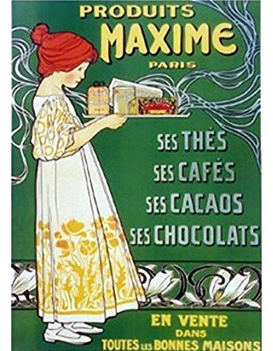 Cartexpo Französische Werbung Maxime Tee Kaffee Schokolade