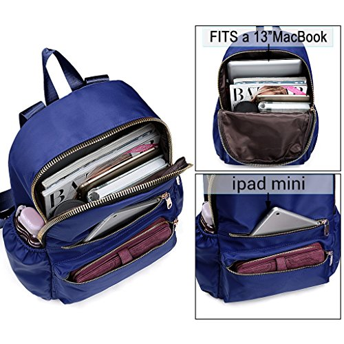 UTO Zaino Donna del Computer Portatile Oxford impermeabile tessuto di nylon Zaino per Scuola universitaria zaino borsa da viaggio Blu