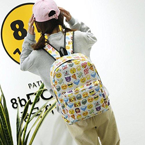 Imagen de emoji , imprimir cara  escuela bolsas para adolescentes niñas niños by venmo blanco  alternativa