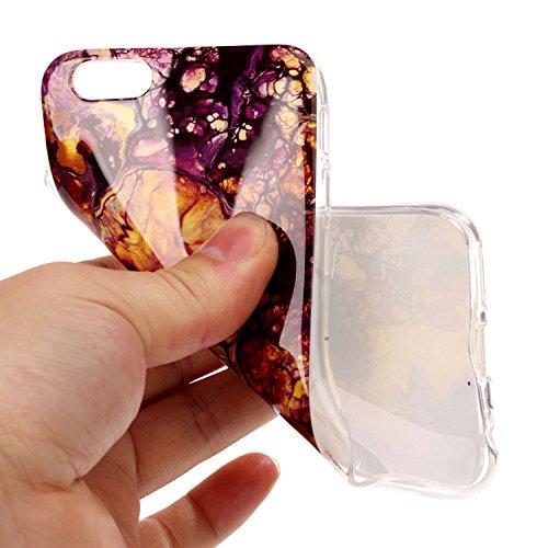 Für Apple IPhone 6 & 6s Plus Rückseiten-Abdeckung Weiche flexible dünne u. Leichte bunte TPU pretektive Silikon-Kasten-Abdeckung ( Color : B ) E