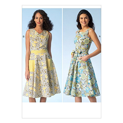 Kwik Sew Patterns K4098 OS Sizes X-Small/Small/Medium/Large/X-Large Misses Dresses and Belt Sewing Pattern