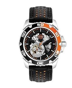 Harley-Davidson Homme Spoke Self-Winding Montre Automatique. Index Lumineux. ...