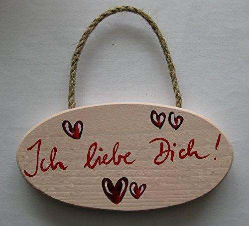 Türschild Wandschild Ich liebe dich Schild Holz für innen Geburtstagsgeschenk Anhänger Liebe Love Hochzeit