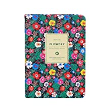 Beautiful Vintage PU Leather Floral Printed Office Students Diary Notebook School Weekly Planner Book Stationery Supplies