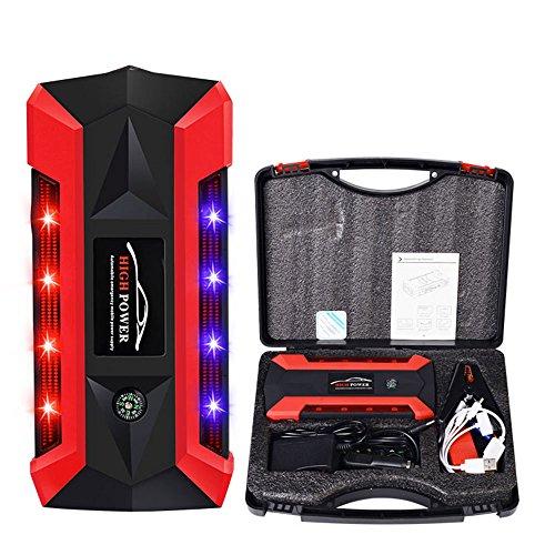 HCCX Auto Jump Starter, 89800Mah 12V Auto-Jump St mit LED-Notbeleuchtung und Taschenlampe und 4 USB-Anschlüsse, Externe Batterie-Ladegerät Auto Booster Jumper Für Fahrzeuge, Tragbare Power Bank