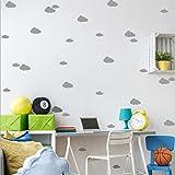 wandaufkleber wandtattoos Ronamick DIY Wand einfach und kreativ Multi-Size Wolken abnehmbare Wandaufkleber Wandtattoo Wandaufkleber Sticker Wanddeko (Grau)