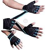 GEWICHTHEBER-Handschuhe & # x4e28; atmungsaktiv überlegene Dämpfung rutschfeste & # x4e28; Einzigartige Ottoman Stoff für lange Haltbarkeit mit verstellbarem Klettverschluss-Powerlifting–inpay