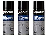 JENOLITE 3 x Convertiruggine - Convertitore di ruggine grilletto Spray - 400ml