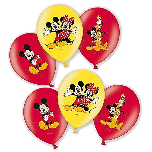 Mickey Mouse 6 STK. | Disney Micky Maus | Luftballons Geburtstag ()