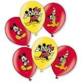 Disney Mickey Mouse - Partido de los Niños de Cumpleaños - Globos 6 Piezas