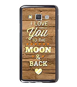 Fuson Designer Back Case Cover for Samsung Galaxy A7 (2015) :: Samsung Galaxy A7 Duos (2015) :: Samsung Galaxy A7 A700F A700Fd A700K/A700S/A700L A7000 A7009 A700H A700Yd (to the moon and back hearts caligraphy )