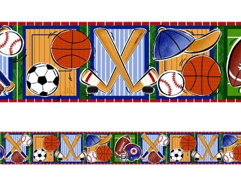 Borders Unlimited Sports Fun Border (5 X 15') by Borders Unlimited -