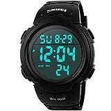 SunJas Armbanduhr Sportuhr 50 Meter Wasserdicht Uhr Digital Led Alarm