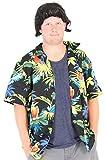 Costume Agent Pet Detective Hawaiian Ace Ventura Shirt & Perücke Kostüm Set (XX-Large)