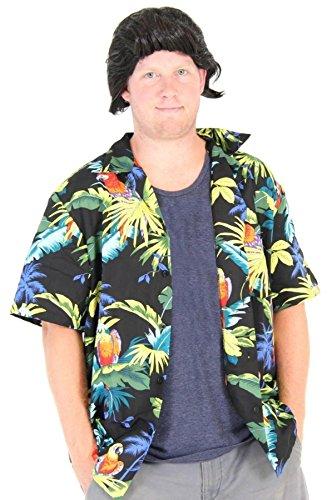Costume Agent Pet Detective Hawaiian Ace Ventura Shirt & Perücke Kostüm Set (XX-Large) (Ace Perücken)