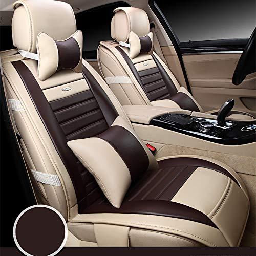 MAOMAOQUEENss Automotive Coprisedili Set Package Compatibile con BMW Serie 5, Serie 3, X1, X3, X5,Set di Coprisedili per Auto con Airbag Compatibile,Pelle PU E Tessuto Traspirante 3D,Coff