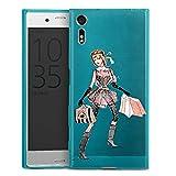 DeinDesign Sony Xperia XZ Slim Case transparent hellblau Silikon Hülle Schutzhülle Shopping Queen ohne Hintergrund Handtasche