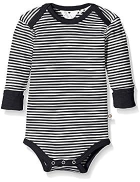 Green Cotton Unisex Baby Body Stripe L/Sl