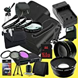 DavisMAX Two Canon EOS 70D DSLR Camera with 18-55mm STM f/3.5-5.6 Lens LP-E6 Lithium Ion Battery and External Rapid Charger + 16GB SDHC Class 10 Memory Card + 58mm 3 Piece Filter Kit + Ful