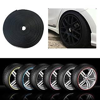 RIMBLADE Car Alloy Wheel Rim Protectors Tire Guard Line Rubber Moulding (Black)