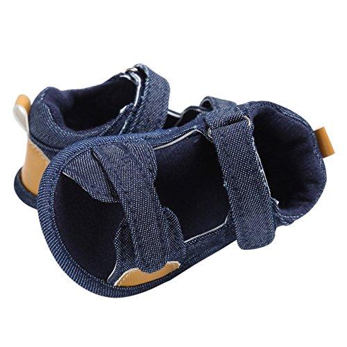 MiyaSudy Baby Schuhe Jungen Canvas Weiche Alleinige Antibeleg Beiläufige Sandelholze Lauflernschuhe Krabbelschuhe Prewalker Marineblau