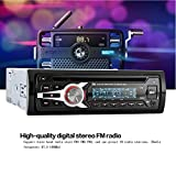 KKmoon 1 DIN Car Stereo 12V FM Aux Input Car Stereo Radio Audio Player Receiver CD DVD VCD WMA MP3 Player with SD/USB Port