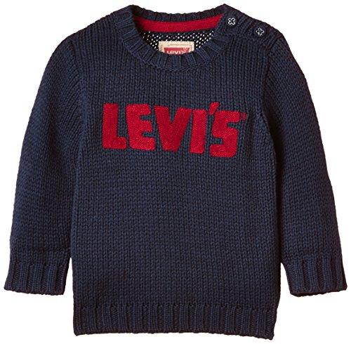 Levi's Kids Baby - Jungen Pullover FRANK, Gr. 86 (Herstellergröße: 24M), Blau (DRESS BLUE 48)