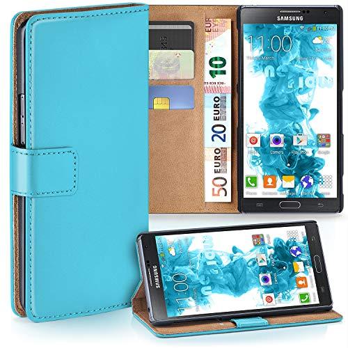 moex Samsung Galaxy Note 3 Neo | Hülle Türkis mit Karten-Fach 360° Book Klapp-Hülle Handytasche Kunst-Leder Handyhülle für Samsung Galaxy Note 3 Neo Case Flip Cover Schutzhülle Tasche