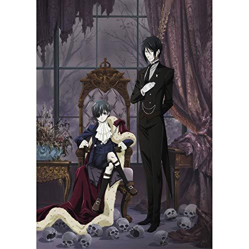 Sweet&rro17 Anime Black Butler Poster Kuroshitsuji Wanddekoration Wandbild Kleinformat Plakat für Wandgestaltung, Motiv: Ciel Phantomhive und ()