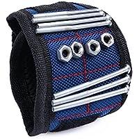 Wristband magnetico, SUNNIOR pratico potente N35 Magneti Strumenti Wrist Band / Kit pickup magnetico per lo svolgimento di viti, chiodi, ecc Drill Bits